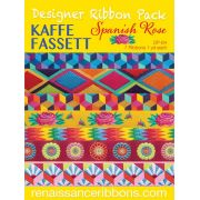 Kaffe Fassett Spanish Rose Designer Ribbon Pack 7 Yards by Renaissance Ribbons - Ribbon