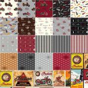 Indian Motorcycle Fat Quarter Bundle 21 Fat Quarters by Riley Blake by Riley Blake Designs - Fat Quarter Packs