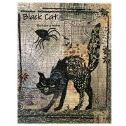 Black Cat Collage Pattern by Fiberworks Collage  - OzQuilts