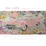 Pink Cadillac Collage Pattern by Fiberworks Collage  - OzQuilts