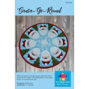 Santa Go Round Christmas Table Topper Pattern by PoorHouse Quilt Designs - Christmas