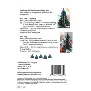 Tabletop Tannenbaum Christmas Tree Pattern by PoorHouse Quilt Designs - Christmas