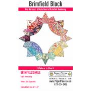 Brimfield Block English Paper Piecing Pack Makes 1 Block by Brimfield Awakening - Paper Pieces Kits & Templates
