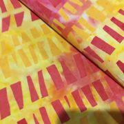 Pink & Yellow Rectangles Batik by Island batik Batik - OzQuilts