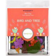 Sue Spargo Bird and Tree Colourway 2 Precut Wool Kit by Sue Spargo Merino Wool - PreCut Wool Kits