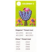 Sue Spargo Bird and Tree Colourway 3 Precut Wool Kit by Sue Spargo Merino Wool - PreCut Wool Kits