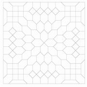OzQuilts Lucy Boston Patchwork of The Crosses Heat Resistant Shapes by OzQuilts Mylar Templates - OzQuilts