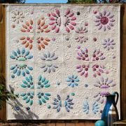 Divided Blooms Quilt Templates by Carolyn Murfitt of Free Bird Designs by Free Bird Quilting Designs Quilt Blocks - OzQuilts