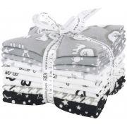 Penned Pals Cotton Flannel Shadow Colourstory 10 Fat Quarter Bundle by Robert Kaufman Fabrics - Fat Quarter Packs