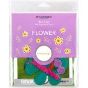 Sue Spargo Flower Colourway 3 Precut Wool Kit by Sue Spargo Merino Wool - PreCut Wool Kits