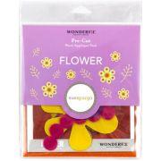 Sue Spargo Flower Colourway 4 Precut Wool Kit by Sue Spargo Merino Wool - PreCut Wool Kits