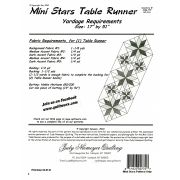 Mini Stars Table Runner Pattern and pre-printed Foundation Papers by Quiltworx by Quiltworx - Judy Niemeyer Quiltworx