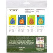 Sue Spargo Ladybug Colourway 2 Precut Wool Kit by Sue Spargo Merino Wool - PreCut Wool Kits