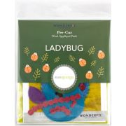 Sue Spargo Ladybug Colourway 1 Precut Wool Kit by Sue Spargo Merino Wool - PreCut Wool Kits