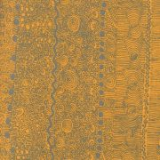 My Country Utopia in Gold by Steve Pitjara by M & S Textiles - Cut from the Bolt
