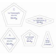 "La Passacaglia Halo Template Set from Millefiori Quilts - 1.75"" Size by OzQuilts - Millefiori Book 1"