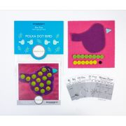 Sue Spargo Polka Dot Bird Colourway 1 Precut Wool Kit by Sue Spargo Merino Wool - PreCut Wool Kits