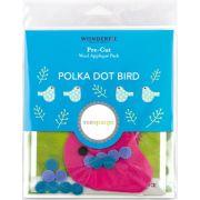 Sue Spargo Polka Dot Bird Colourway 4 Precut Wool Kit by Sue Spargo Merino Wool - PreCut Wool Kits