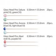 "Tulip Glass-Head Pins ""Sakura"" (20) by Tulip - Applique Pins"