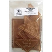 """Alabama Star 8 piece Acrylic Template Set with 1/4"""" seam allowance by Paper Pieces - Paper Pieces Kits & Templates"""