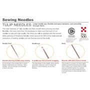 Tulip Hiroshima Embroidery Needles No 9 Sharp Tip by The Tulip Company  - Hand Sewing Needles