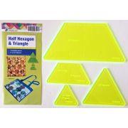 Matildas Own Precut Half Hexagon & Triangles Template Set (4 Pieces) by Matilda's Own Quilt Blocks - OzQuilts
