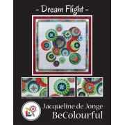 Dream Flight Quilt Pattern and Foundation Papers by Jacqueline de Jonge by BeColourful Quilts by Jacqueline de Jongue - Patterns & Foundation Papers