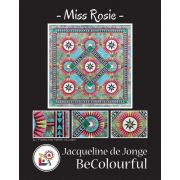Miss Rosie Quilt Pattern & Foundation Papers by Jacqueline de Jonge by BeColourful Quilts by Jacqueline de Jongue - Patterns & Foundation Papers