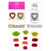 Wendy Williams Pre-Cut Wool Applique Pack - Heart Red by Wendy Williams of Flying FIsh Kits - PreCut Wool Kits