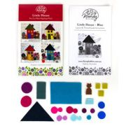 Wendy Williams Pre-Cut Wool Applique Pack - Little House Blue by Wendy Williams of Flying FIsh Kits - PreCut Wool Kits