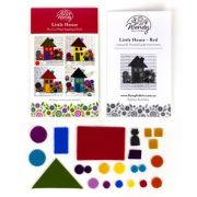 Wendy Williams Pre-Cut Wool Applique Pack - Little House Red by Wendy Williams of Flying FIsh Kits - PreCut Wool Kits