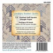 Triangle Paper 0-1/2in for Charm Pack by Edyta Sitar by Edyta Sitar of Laundry Basket Quilts Pre-printed Triangle Papers - OzQuilts