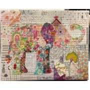 Teeny Tiny Collage Pattern Group 1 by Laura Heine of Fibreworks by Fiberworks Collage  - OzQuilts