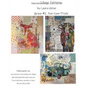 Teeny Tiny Collage Pattern Group 2 by Laura Heine of Fibreworks by Fiberworks Collage  - OzQuilts