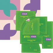 "Matilda's Own Drunkards Path 3"", 4"" and 5"" Patchwork Template Set by Matilda's Own - Quilt Blocks"