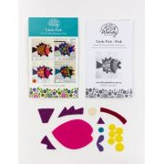 Wendy Williams Pre-Cut Wool Applique Pack - Little Fish Pink by Wendy Williams of Flying FIsh Kits - PreCut Wool Kits