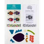 Wendy Williams Pre-Cut Wool Applique Pack - Little Fish Purple by Wendy Williams of Flying FIsh Kits - PreCut Wool Kits