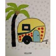 Wendy Williams Pre-Cut Wool Applique Pack - Caravan Yellow by Wendy Williams of Flying FIsh Kits - PreCut Wool Kits