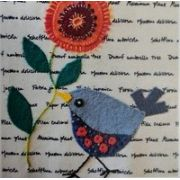 Wendy Williams Pre-Cut Wool Applique Pack - Little Bird Blue by Wendy Williams of Flying FIsh Kits - PreCut Wool Kits