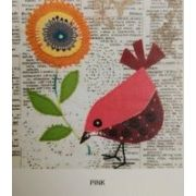 Wendy Williams Pre-Cut Wool Applique Pack - Little Bird Pink by Wendy Williams of Flying FIsh Kits - PreCut Wool Kits