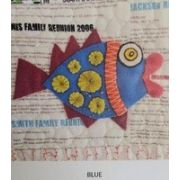 Wendy Williams Pre-Cut Wool Applique Pack - Little Fish Blue by Wendy Williams of Flying FIsh Kits - PreCut Wool Kits