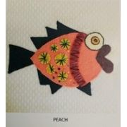Wendy Williams Pre-Cut Wool Applique Pack - Little Fish Peach by Wendy Williams of Flying FIsh Kits - PreCut Wool Kits