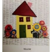 Wendy Williams Pre-Cut Wool Applique Pack - Little House Yellow by Wendy Williams of Flying FIsh Kits - PreCut Wool Kits