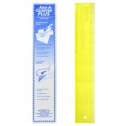 "Add-A-Quarter 12"" Plus Yellow by CM Designs - Add A Quarter Rulers"