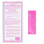"""Add-A-Quarter 6"""" Plus Pink by CM Designs - Add A Quarter Rulers"""