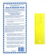 "Add-A-Quarter 6"" Plus Yellow by CM Designs - Add A Quarter Rulers"