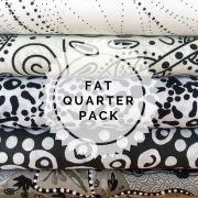 Aboriginal Art Fabric 5 Fat Quarter Bundle - White Colourway by M & S Textiles - Fat Quarter Packs