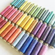 Sue Spargo Ellana Wool Thread for the Fresh Cut Quilt - 40 Spools by Sue Spargo Ellana Wool - Sue Spargo Ellana 12wt Wool