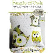 Family of Owls Cushion Pattern by Claire Turpin by Claire Turpin Designs Cushions & Pillows - OzQuilts