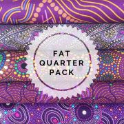 Aboriginal Art Fabric 5 Fat Quarter Bundle - Purple Glow by M & S Textiles Fat Quarter Packs - OzQuilts